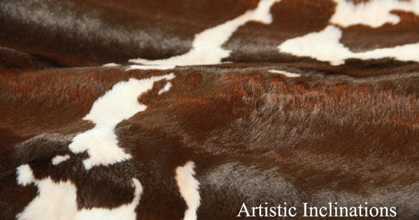 1 Yard Of Faux Cow Hide Fabric In Brown By