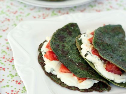 Spinach Crepes with Ricotta, Tomatoes and Basil | Recipe | Ricotta ...