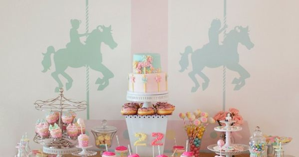 Carousel Themed Dessert Table