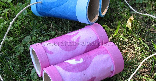 Toilet paper roll Binoculars, an easy kids crafts reuse recycle
