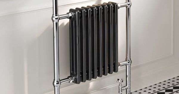 Victoria Traditional Towel Radiator In Black 952mm X 659mm
