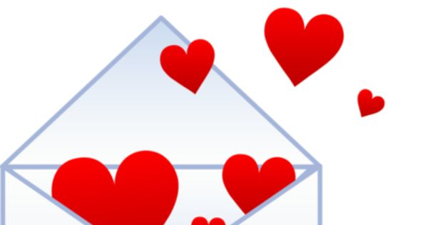 Free Clip Art Of A Love Letter With Red Hearts Flying Out