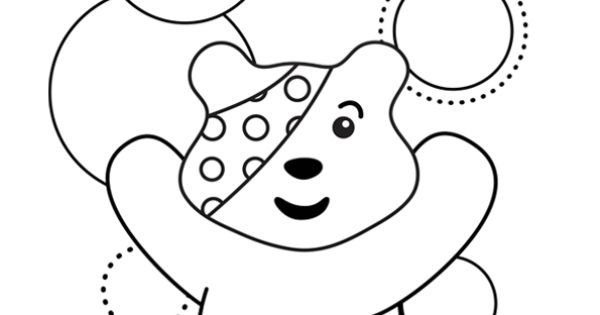 Pudsey Bear Colouring Template Children in need pudsey