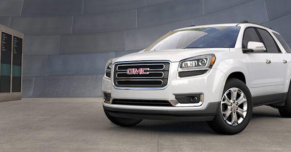 2015 Gmc Acadia Crossover Suv In Summit White Suv Crossover Cars Best Midsize Suv