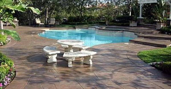Brown, Tiles Concrete Pool Decks Super Krete Spring Valley, ...