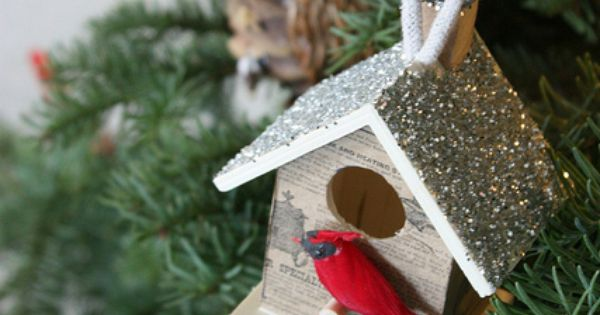 Diy birdhouse ornament projets essayer pinterest for Oiseaux decoration exterieur