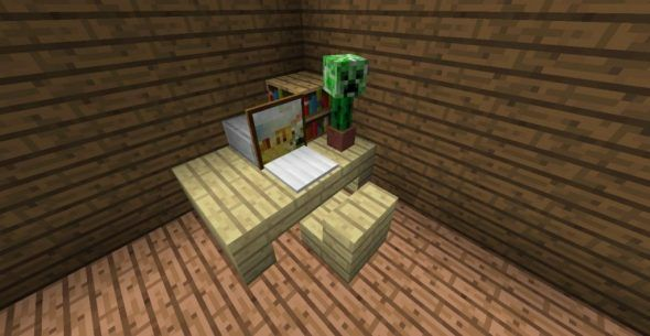 How To Make Writing Desk In Minecraft Writing Desk Minecraft Desk