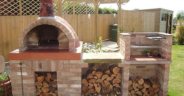Wood Fired Pizza Oven Love The Rustic Real Italian Feel To It Kitchen Ideas