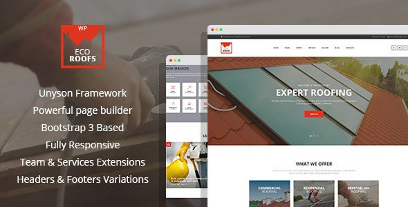 Wordpress Eco Roofs Roofing Renovation Wordpress Theme Download Download Renovation Roofing Ro Eco Roof Roofing Roof Renovation