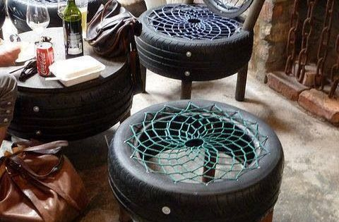 Recycle Those Old Tyres To These Beautiful Garden Chairs