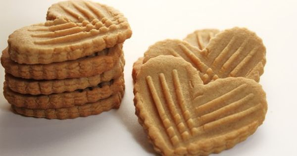 Cute idea for an easy cookie recipe - heart shaped peanut butter