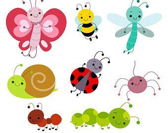 Cute Bug Digital Clipart Bug Clipart Bug Clip Art Instant Insect Clipart Clip Art Fruit Cartoon