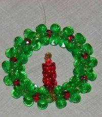 Pin By Rita Yocum On Kids Craft Ideas Christmas Ornament Crafts Christmas Bead Beaded Christmas Decorations