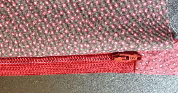 Poser rapidement un zip fermeture clair sur une trousse ou pochette tr s belles finitions - Monter une fermeture eclair ...