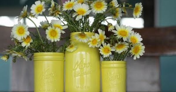 Painted Mason Jar Vases! (and other spray paint ideas)