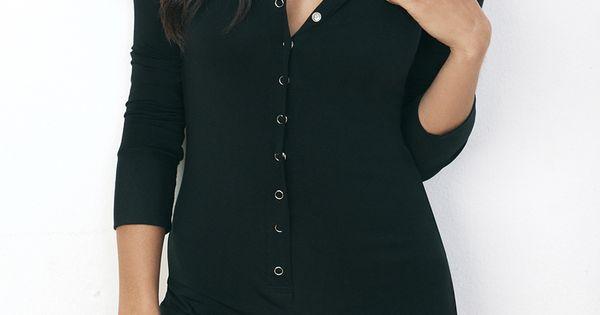 black button onesie