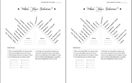"""Free What's Your solution PDF Worksheet - The """"What's Your ..."""