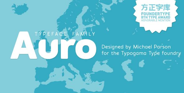 Auro typeface – Sans-Serif Fonts
