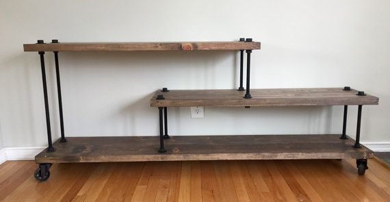 Industrial Modern Media Console Contemporary Tv Stand Entry Table