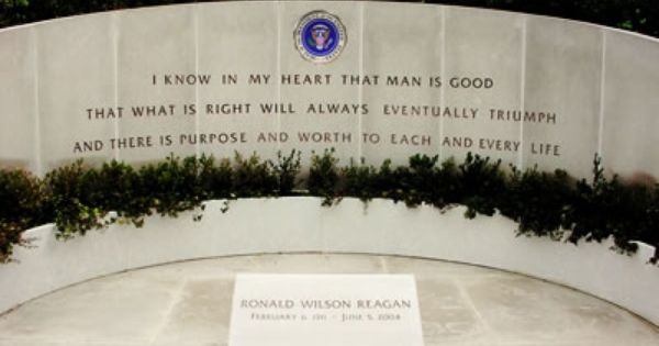 Ronald Reagan S Final Resting Place At His Presidential