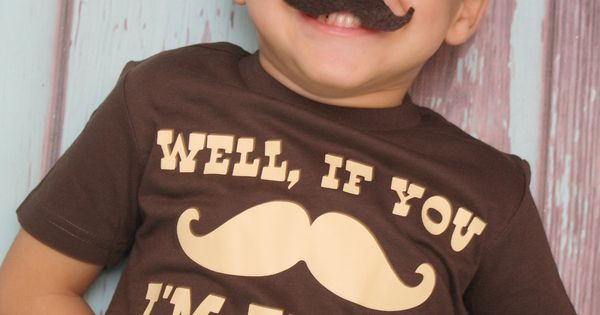 Well, If You Mustache, I'm.... Birthday T-shirt - Little Man Birthday Shirt