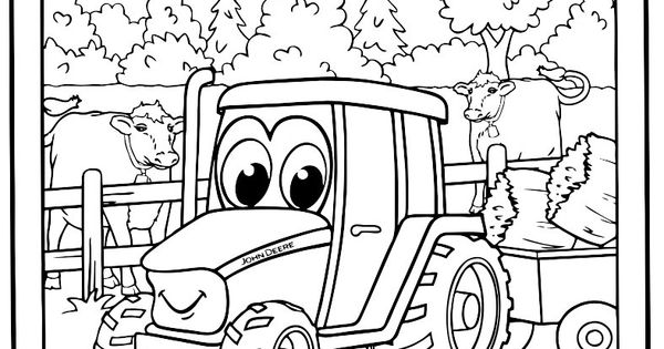 Johnny Tractor Coloring Pages Christopher S 3rd Birthday