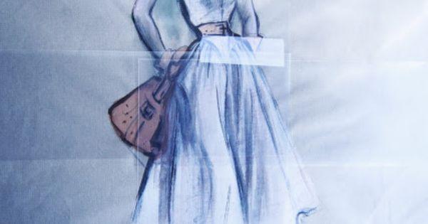 Original drawing by Edith Head (lauren Bacall - Grace Kelly ? ) (Movie ...