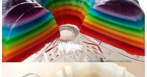 Rainbow jello, Jello molds and Jello on Pinterest
