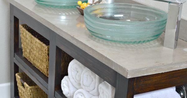 Build an open shelf bathroom vanity crate and barrel - Crate and barrel bathroom vanities ...