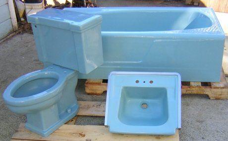 Scenes From 22 Blue Midcentury Bathrooms Color Bathroom Design