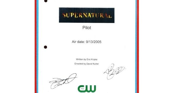 Supernatural Pilot Episode TV Script Autographed: Jared ...