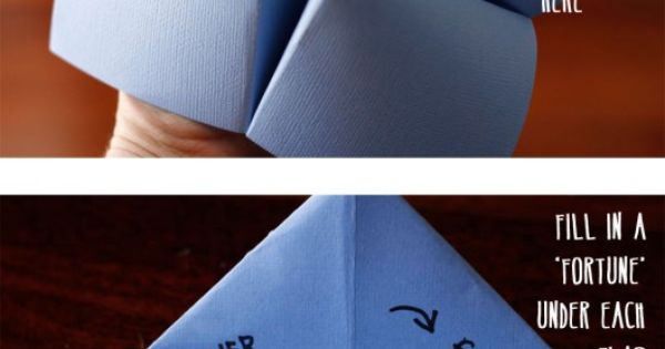 origami choices thingy that the kids would like | Crafty Fun