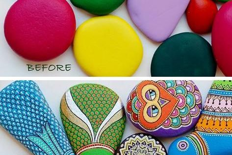 How To Paint Stones and Pebbles. A fun, relaxing and creative activity