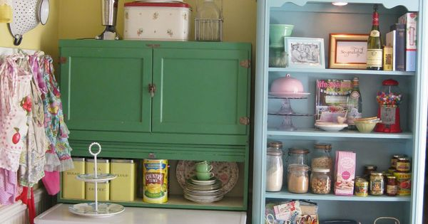 Scenic Green And Blue Vintage Kitchen Cabinet Storage Also Open Racks As Inspiring Vintage - Open Cabinet Kitchen Ideas