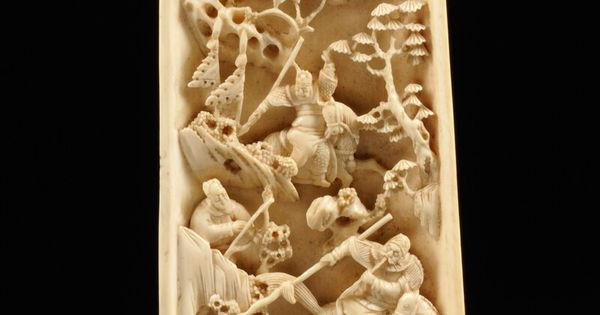 Ivory wrist rest china th century top side carved in