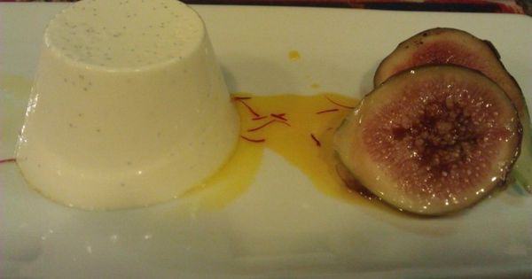 Rose scented panacotta, fig, saffron and honey enjoyed at Bohemian ...