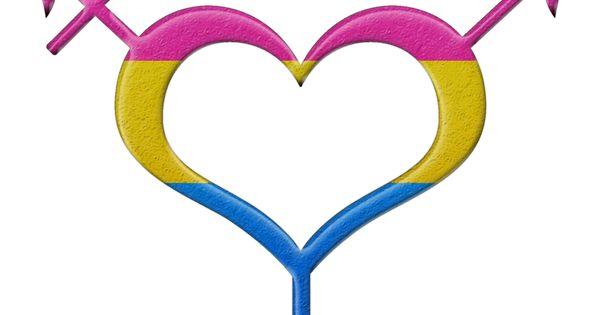 Pansexual Pride Heart Shaped Gender Neutral Symbol In