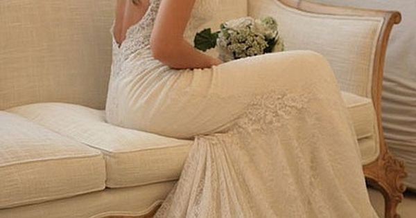 Beautiful backless lace wedding dress. by erin