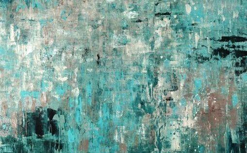 Sea Glass Beach Canvas Wall Art Abstract Canvas Painting Teal Wall Art