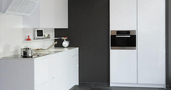 Witte keuken grijze muur google search interior moodboard pinterest muur keuken en google - Keuken rode en grijze muur ...