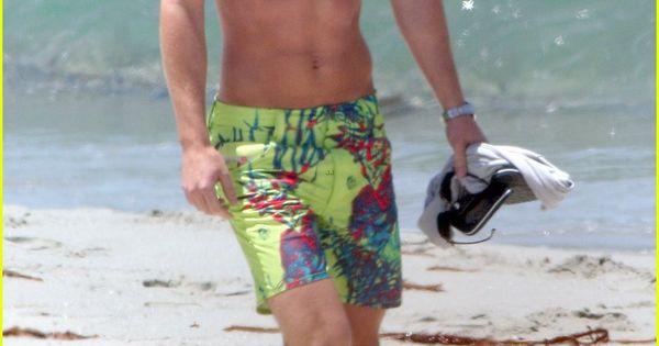 Arrow Colton Haynes Shows his Beach Body in Miami