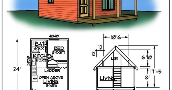 Tiny house cabin plans for Cabin plans 123
