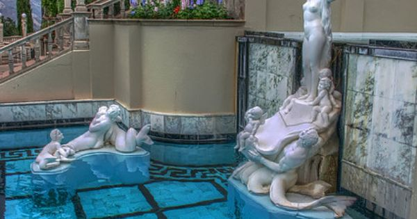 Neptune pool statues hearst castle san simeon - Hearst castle neptune pool swim auction ...