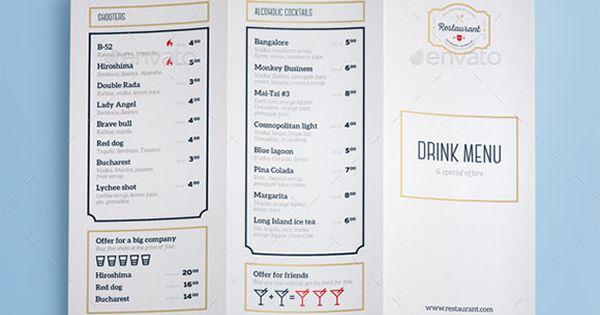 Drink Menu Template u2013 25+ Free PSD, EPS Documents Download! Free - free drink menu template