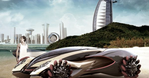 Amphi-X Dubai 2030 Amphibious Vehicle: Instead of stacked in traffic, you could