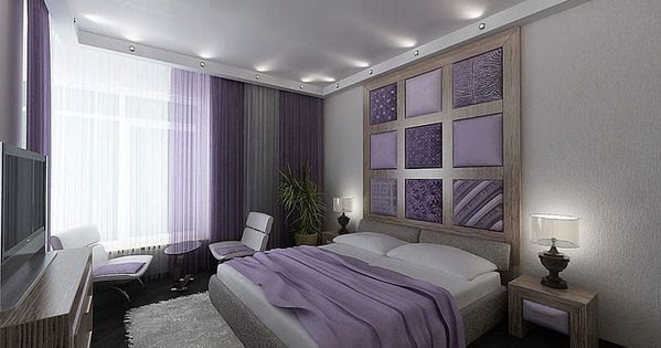 Purple white gray taupe bedroom for the home for Purple and taupe bedroom
