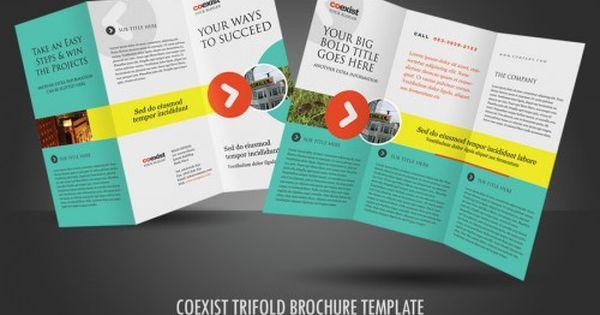 30 contoh desain brosur lipat tiga