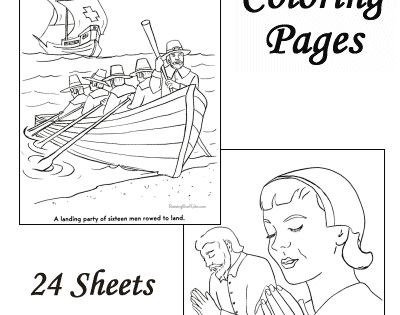 Coloring pages of Pilgrims