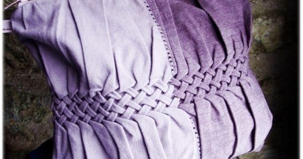faire un tressage sur un tissu avec des points de couture brillant by g dane travail des. Black Bedroom Furniture Sets. Home Design Ideas