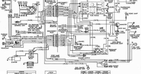 dodge d series d100 600 and power wagon w100 500 wiring 1954 chrysler wiring diagram